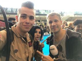 Rapper One Touch und Kylie im Gespräch mit Oliver Pocher